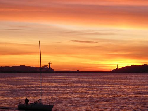 sunset barca tramonto porto brest sole bateau crépuscule francia coucherdusoleil finistere bretagna vele spiritofphotography