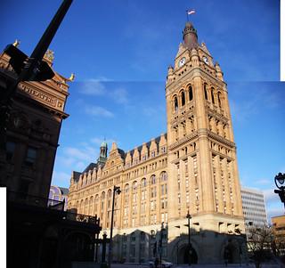 Imagen de Milwaukee City Hall. winter usa wisconsin america canon us cityhall milwaukee dslr 2010 canoneos40d