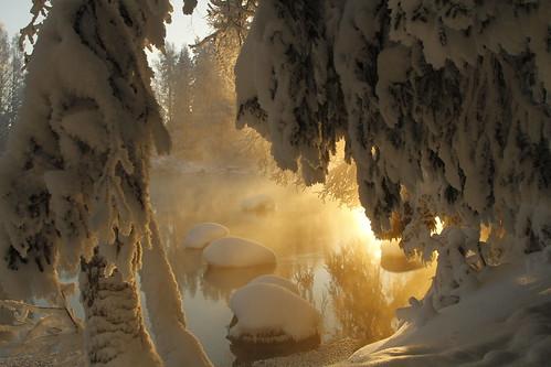 winter suomi finland frost rapids wonderland talvi laukaa koski kuura kapeenkoski canoneos7d