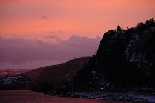 sunset oregon sunrise hoodriver