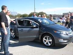 auto show(0.0), chevrolet(1.0), automobile(1.0), automotive exterior(1.0), vehicle(1.0), automotive design(1.0), chevrolet volt(1.0), sedan(1.0), land vehicle(1.0), electric vehicle(1.0),