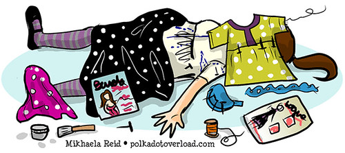 Sewing Cartoon: Death By Unfinished Object
