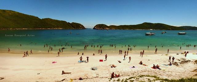 Panorámica a Praia da Ilha do Farol