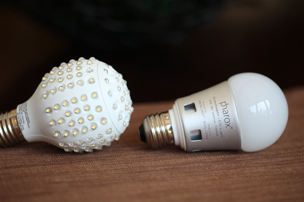 Two LED light bulbs