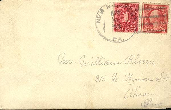 illegal use of postage due stamp