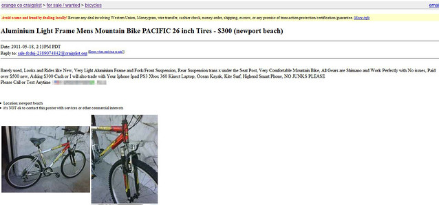 Light aluminum bike - Craigslist tennessee farm and garden ...