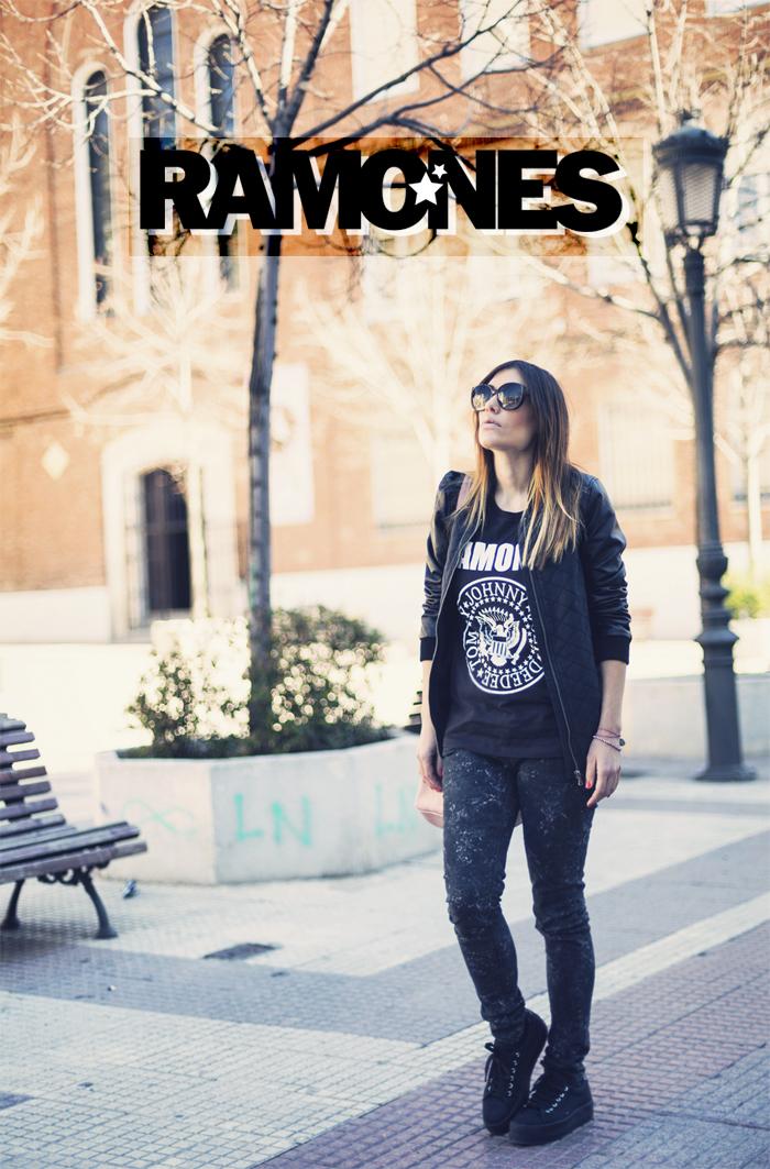 street style barbara crespo ramones tshirt C&A outfit fashion blogger blog de moda blogger