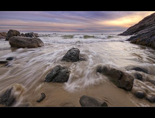 ocean motion beach water clouds sunrise way dawn sand rocks cove maine sigma perkins moe 1020mm chen ogunquit marginal moe76