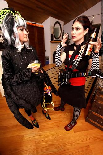 spider & judy nails   halloween party at skai and kelly's