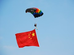 China Air Force Parachute jumping 中國人民解放軍八一跳傘隊 2009