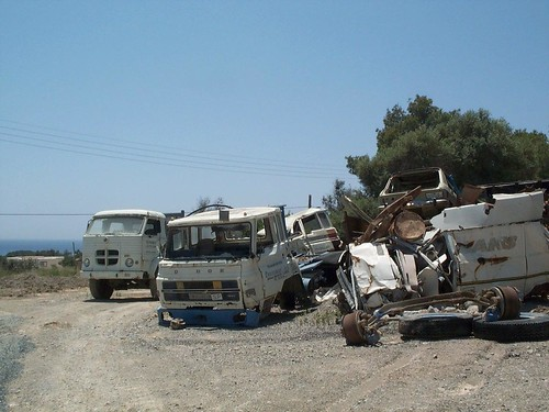 Camió Pegaso i cabina de Dodge a Eivissa