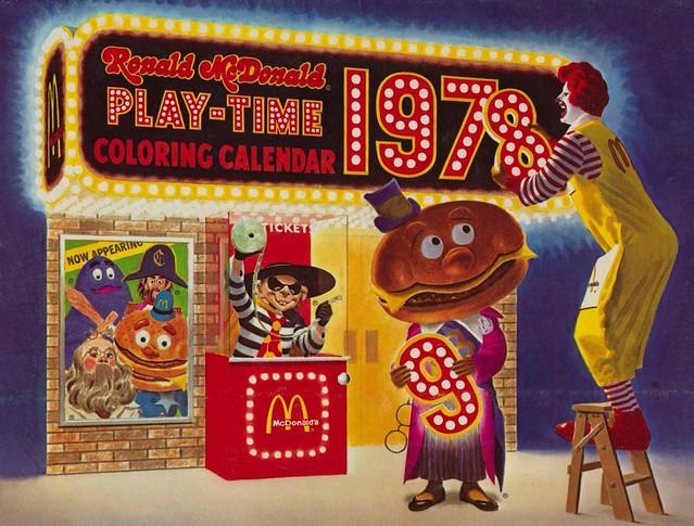 1978 ronald mcdonald play time coloring calendar back flickr photo sharing. Black Bedroom Furniture Sets. Home Design Ideas