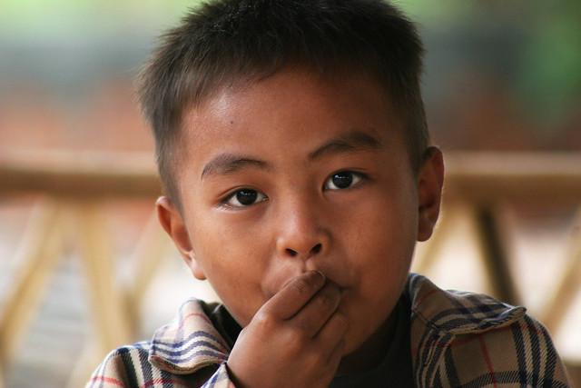 Potrait of a boy in Phnom Penh.