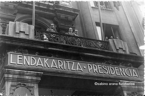 Lehendakaritza Bilbao, guerra civil