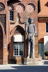 Steinernder Roland in Brandenburg