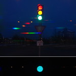 LED traffic light spectra