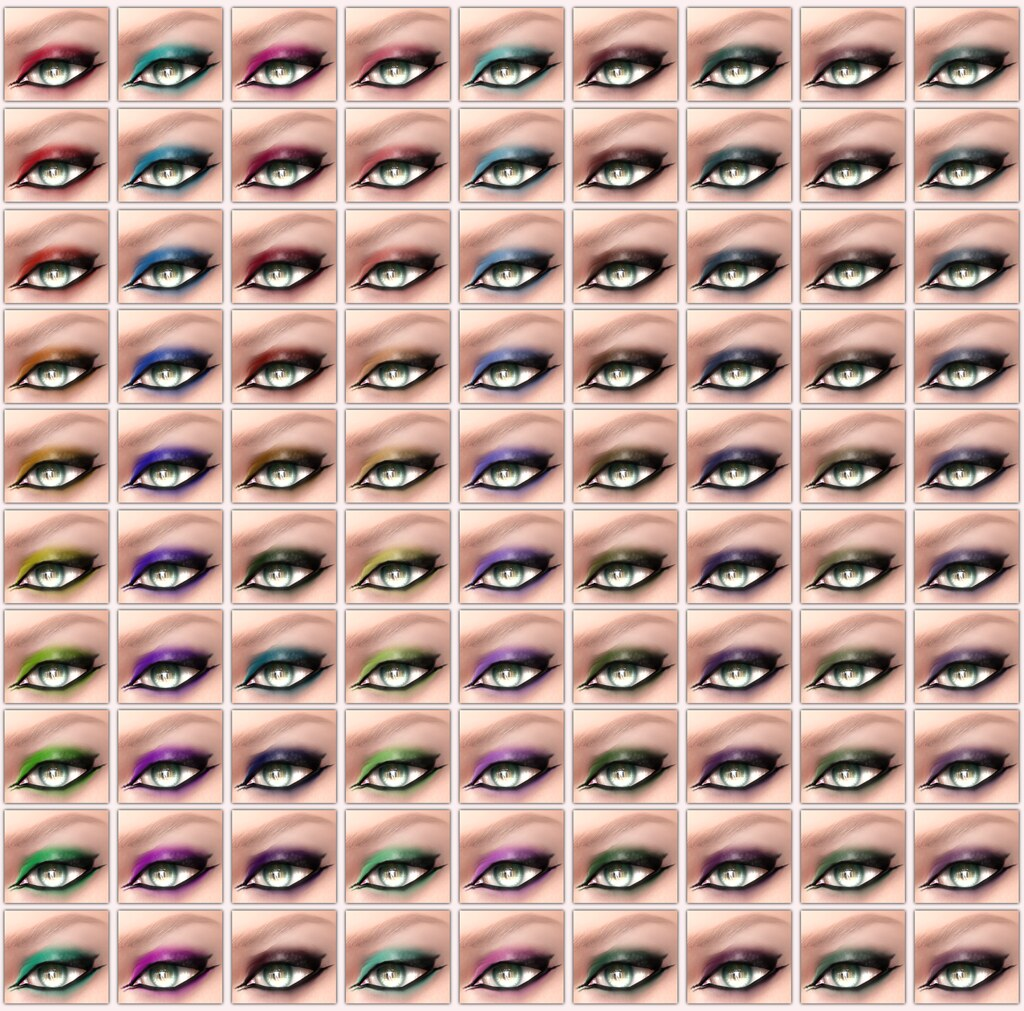 !IT! - La Maitresse Eyeshadows Swatch 1 - 9 - SecondLifeHub.com