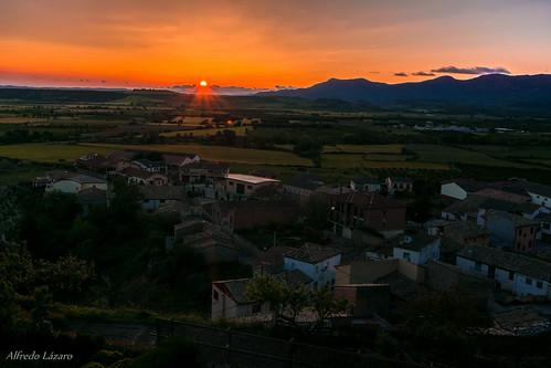 Atardecer en Bolea, Aragón