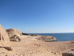 Lake Nasser at Abu Simbel, Egypt