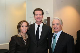 Charles Schwab with Mayor Gavin Newsom