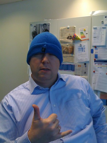 """Blue Beanies bring out my wild side..."""