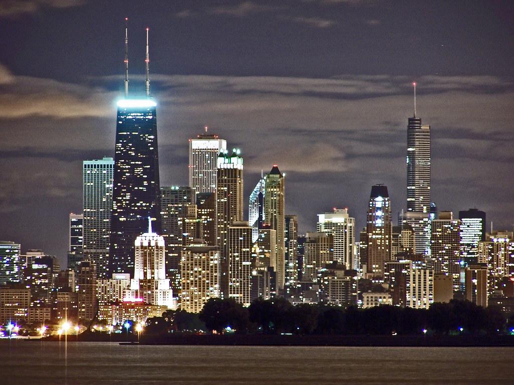 night skyline view of - photo #44