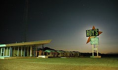 Roy's Motel eclipses full moon. I think this must have been the model for setting of 'The Postman Always Rings Twice'.