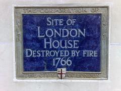 Photo of London House blue plaque
