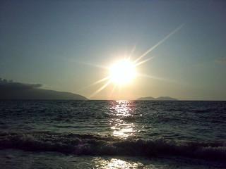 Sunset Albanian coast