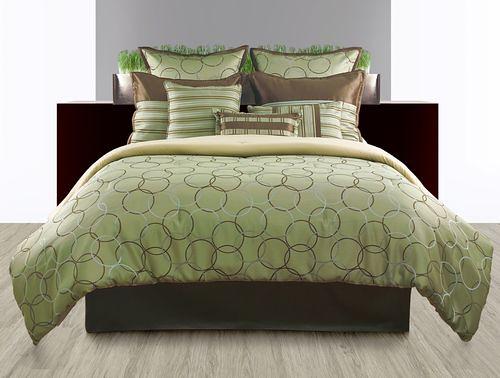 9pc Luxury Bedding Set Bed In A Bag Comforter Sets Modern