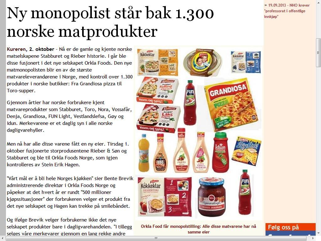 ikke monopol
