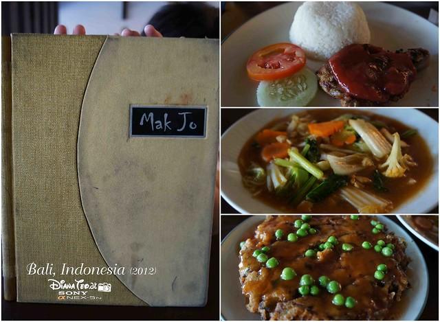 Mak Jo Bali Meals