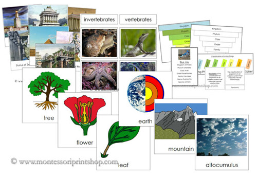 Classical Conversations Montessori Bundle for Foundations - Cycle 1 (Image from Montessori Print Shop)