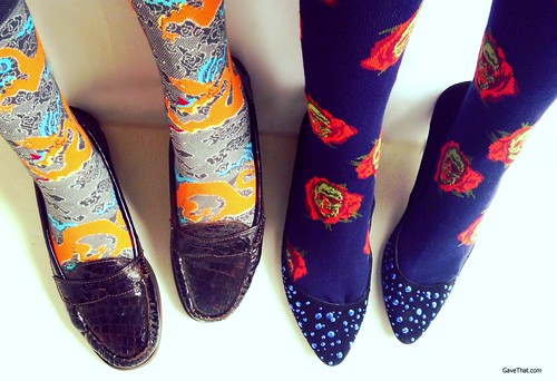 Ozone Bold Socks and Loafers from their Socks of the Month Club on Gift Style Blog Gave That