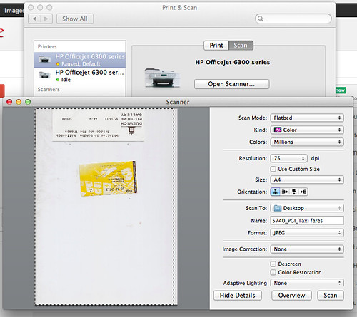 Scanning to an HP Printer from the Apple System Preferences