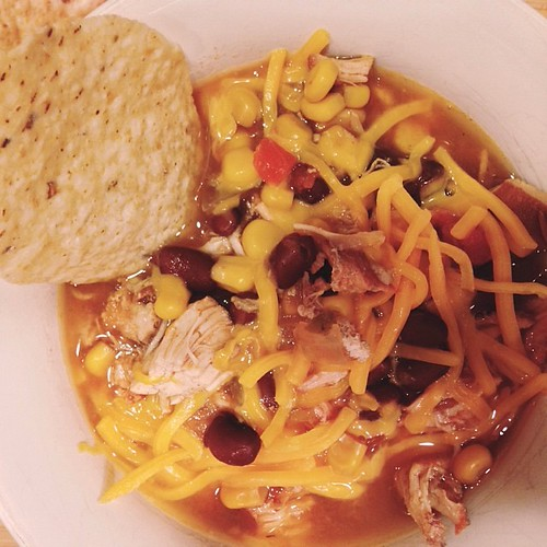 Crockpot Tuesday : chicken tortilla soup for the win.