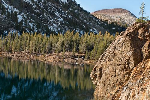 Fall colors in the Eastern Sierra: Ellery Lake