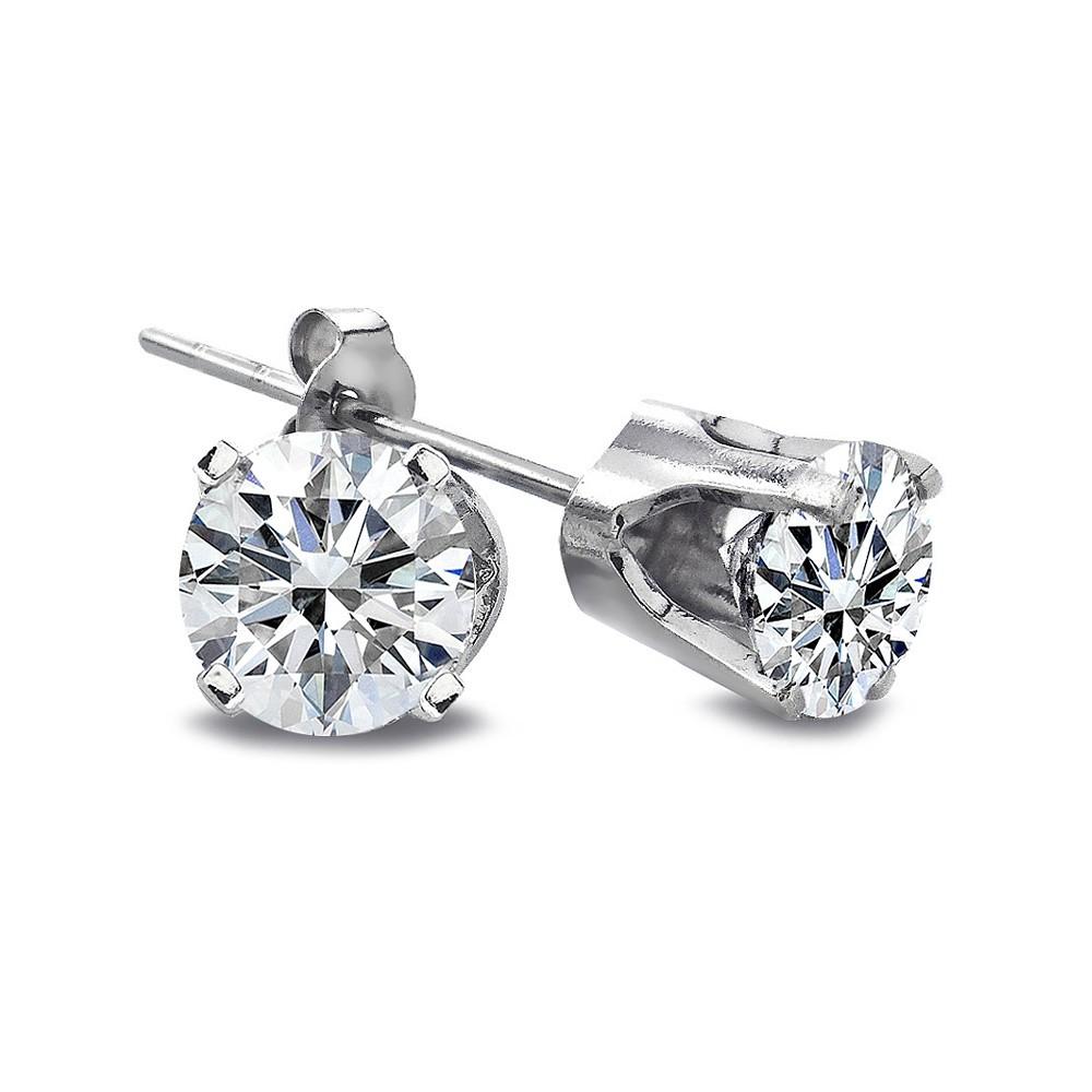 1 4 ct round diamond 14k white gold stud earrings h i i2. Black Bedroom Furniture Sets. Home Design Ideas