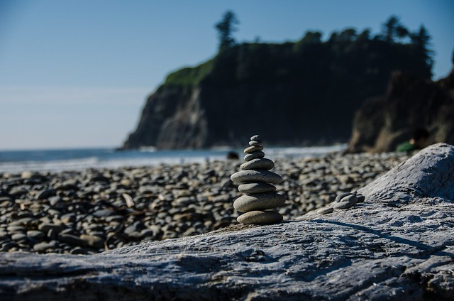 Pebble tower- Ruby beach