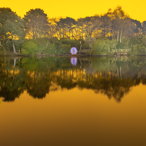 park light orange lake lightpainting painting orb m7 royden ledlenser