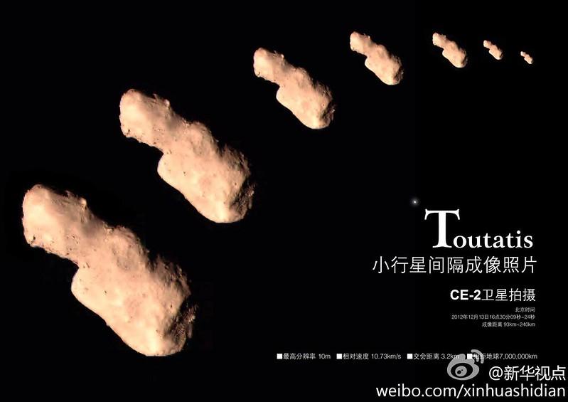 4179 Toutatis Chang'e-2 flyby