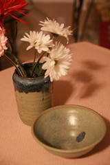 A vase and a plate from the Meredith Studio Gallery