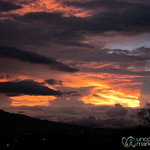 Dramatic Sunset in Santo Domingo, Costa Rica