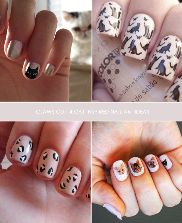 cat nail art, cat inspired nails, cat nail designs, konad plate, lauren conrad leopard nails