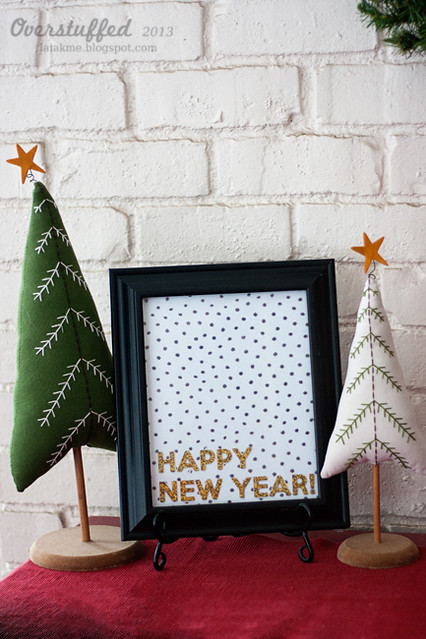 Happy New Year free glitter printable