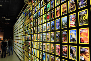 National Geographic Magazine covers display