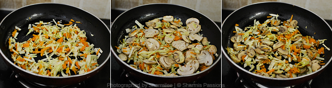 How to make mushroom fried rice - Step2