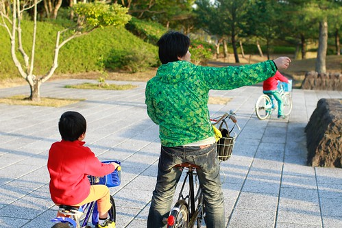 レンタチャリでサイクリングコースをのんびり一周 (^^)