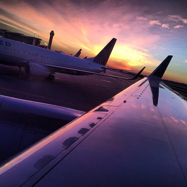 Sunrise takeoff
