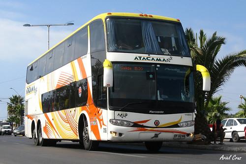 Atacama Vip (Pullman Bus) en Coquimbo | Marcopolo Paradiso 1800 DD - Volvo / CFVZ54